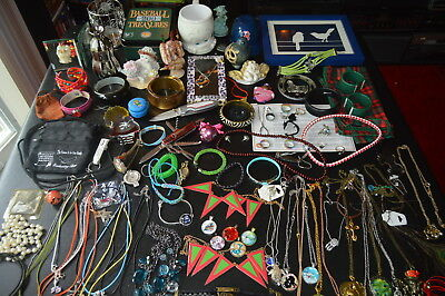 JUNK DRAWER  Mixed LOT of 100 ITEMS  Fashion Jewelry  Knives  Bric-a-brac RESALE