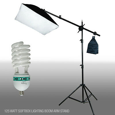 Pro Photo Studio Softbox Lighting Boom Arm Stand Video Hair Lighting Kit Boom