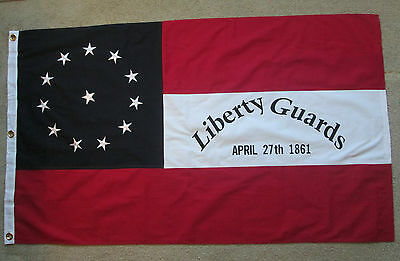 COTTON FLAG, Southern American Civil War Flag...22nd Mississippi, Liberty Guards