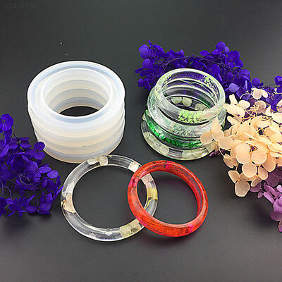 Round Silicone Resin Curve Bracelet Bangle Mould Mold Jewelry Making Tool