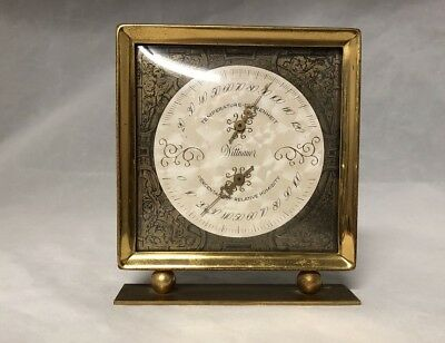 Vintage Gold Wittnauer Weather Station Thermometer And Relative Humidity