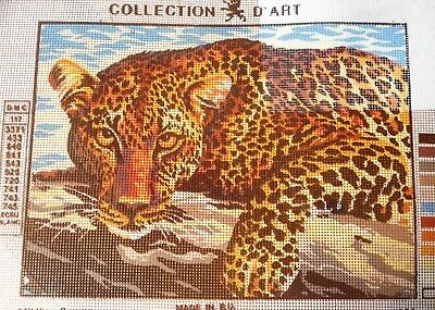 LEOPARD - Tapestry/Needlepoint to Stitch (NEW) by COLLECTION D'ART