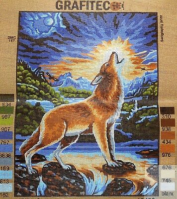 HOWLING WOLF - Tapestry/Needlepoint to Stitch (NEW) by GRAFITEC