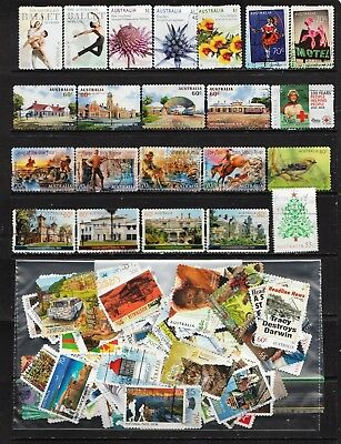 2012 To 2015 100 Australian Stamps  All Different  Used