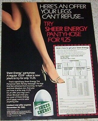 Sheer energy pantyhose ads idea