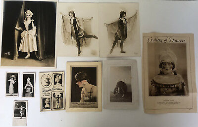 Lot of 1920s Ahtique Photos Gallery of Dancers & Female Actresses