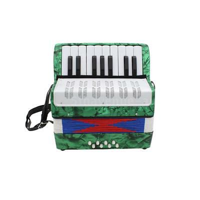 17-Key 8 Bass Accordion Musical Instrument for Kids Christmas Gift Green K2O4