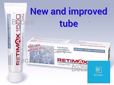 Retimax 1500, Retinol Vitamin A Anti Acne Wrinkle Filler Eczema Cream, Sensitise
