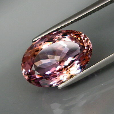 10.05Ct.Real! 100%Natural BIG Purple&Golden Bolivia Ametrine Full Sparkling!