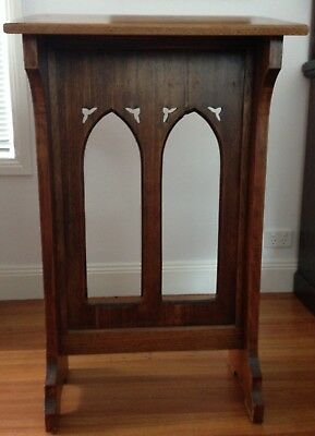 Carved Wooden Lectern - Gothic Style