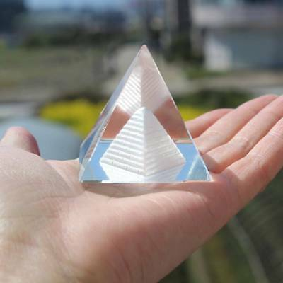 3D Crystal Egypt Pyramid Paperweight 4 cm Egyptian Ancient Building Model Decor