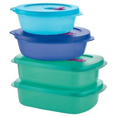 NEW BOX --- Tupperware CRYSTALWAVE PLUS 4-PC SET!!! NEW IN BOX - SALE $24