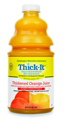 Thick It Thickened Beverage Orange Juice Honey Consistency, 64oz -- 4 per case.