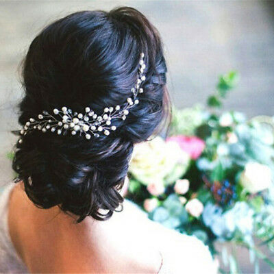 Bride Bridal Hair Comb Wedding Headwear Pearl Women Jewelry Hair Accessories R