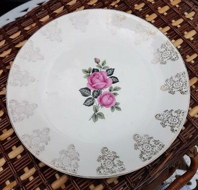 J & G Meakin Pretty Floral Vintage China Cake / Sandwich / Serving Plate Tea