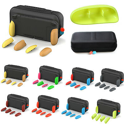 Handle Ergonomic Grip Case Shell Protective Set W/Storage Case Bag for NS Switch