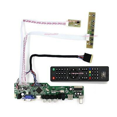 TV HDMI LCD LED AV RF VGA controller board kit DIY for LTN140AT07 1366X768 panel