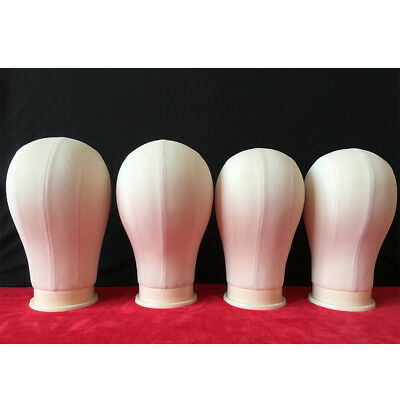 KD_ Canvas Head Wig Making Mannequin Model Block Head Wig Hat Display Stand He