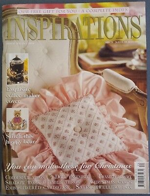 Inspirations Magazine Issue No.24 1999Embroidery, Stitch This Happy Bear