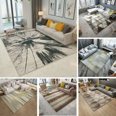 New Modern Small Large Abstract Ink Thick Long Floor Carpet Runner Rugs Mats