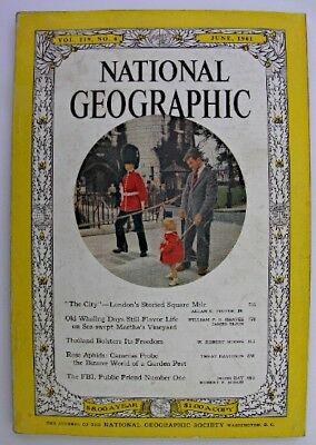 NATIONAL GEOGRAPHIC June 1961 London Square Mile Martha's Vineyard Thailand FBI