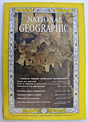 NATIONAL GEOGRAPHIC June 1964 Thresher Tragedy Nova Scotia St Michael's Mount
