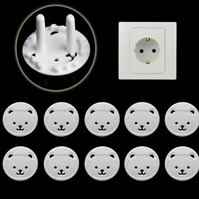 10Pcs Safety Outlet Plug Covers Child Baby Proof Electric Shock Guard Cap