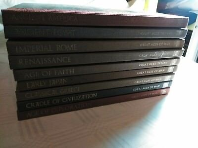 TIME LIFE Great Ages of Man - LOT OF 9 VOLUMES - HARDCOVER - Illustrated!