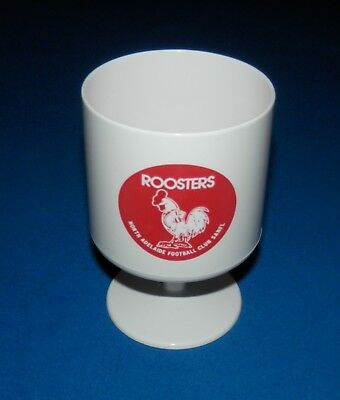 c1980's North Adelaide Roosters SANFL Plastic Goblet / Cup