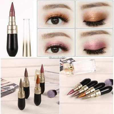 4 COLOUR 2-in-1 Professional Eye Shadow Lip Liner Eyeliner Pen Pencil Set 02
