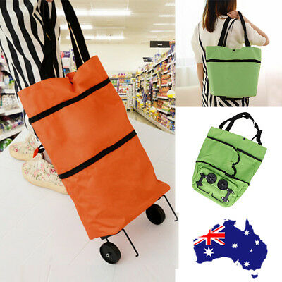 Shopping Trolley Cart Bag Foldable Wheels Carts Bags Market Luggage Basket New