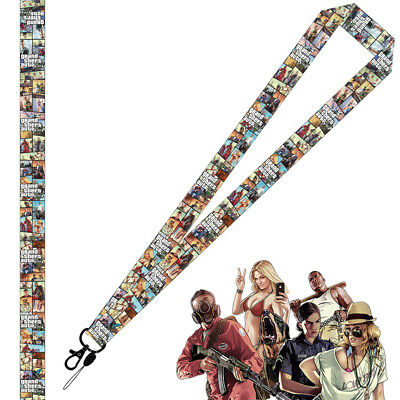 Game Grand Theft Auto Lanyard Neck Strap Cell Phone Rope Keychain Cosplay Gift