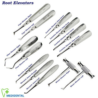Dental Root Elevators Kit Luxation Cryer Winter Elevator Oral Surgery Instrument