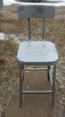 Super Vintage Industrial Metal Adjustable Shop Stool Machine Age Machost Co Dining Chair Design Ideas Machostcouk