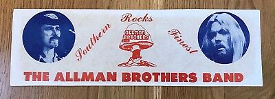 VERY RARE ORIGINAL 1970's ALLMAN BROTHERS BUMPER STICKER GREGG & DICKIE BETTS