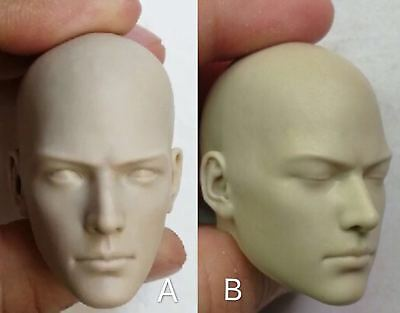 1/6 Male Buddhist Monk Unpainted White Head Model Toy