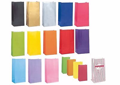 10 / 12 Paper Party Loot Bags Gift Sweet Treat Candy Party Bag popcorn stripes