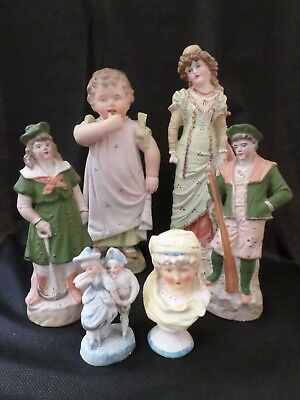 Collection Of Mainly German Antique Figures. (6 In Total)