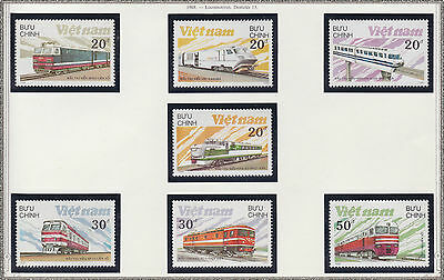 VIETNAM N°862/868** TRAINS LOCOMOTIVES,1988 Vietnam 1893-1899 MNH