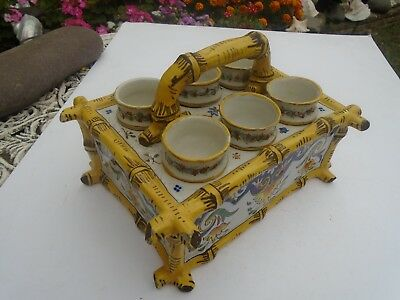 A Early French Rouen Earthenware  Egg Holder