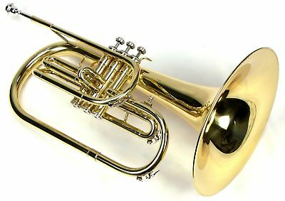 Moz Advanced Monel Pistons Marching Mellophone Key of F with Case and