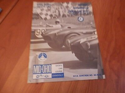 1965 brochure  program mid-ohio sports car course scca sanction lexington ohio