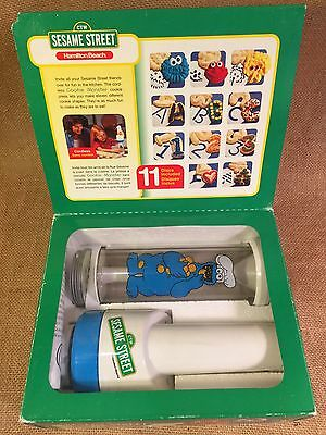 Sesame Street Cookie Monster Cookie Press Hamilton Beach Big Bird Elmo 11 Discs