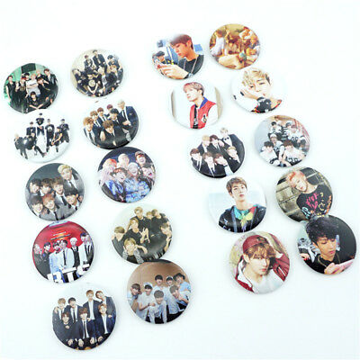 10PC Set Kpop Korea Boys Badge Pins PVC Brooches Fans Collection Cute Gift
