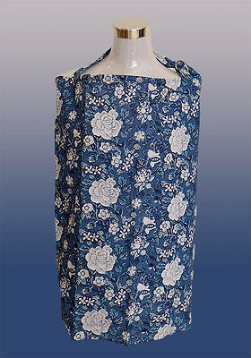 Brand New Breastfeeding Nursing Cover with Matching Bag. (Monday Blue)