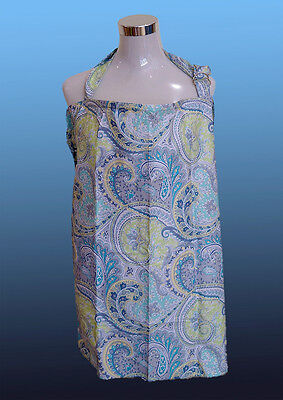Brand New Breastfeeding Nursing Cover with Matching Bag. (Blue Frond)