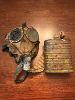 Original WW1 US Gas Mask & Filter