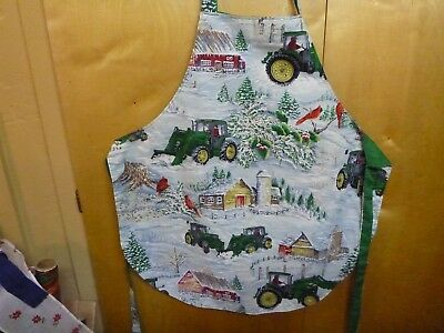 Vintage Full Baking Apron  Reversible Print