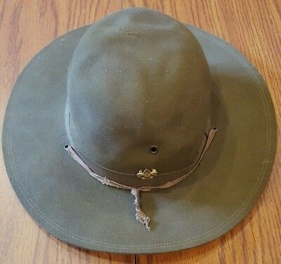 Vintage Boy Scouts of America Official Leader Hat! 6 7/8! AMAZING Condition!