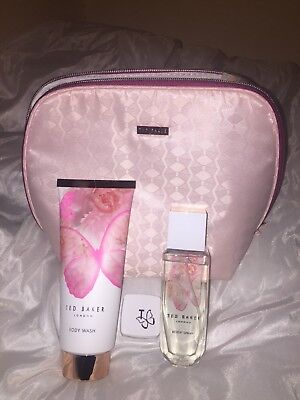 Full Sized Ted Baker Gift Set Women With Makeup Bag